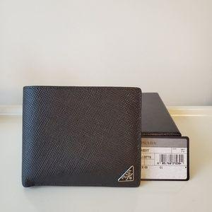 Authentic Prada Black Saffiano Wallet